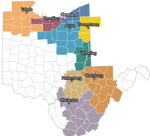Sheet Metal Workers Local Union 33 - Districts Map