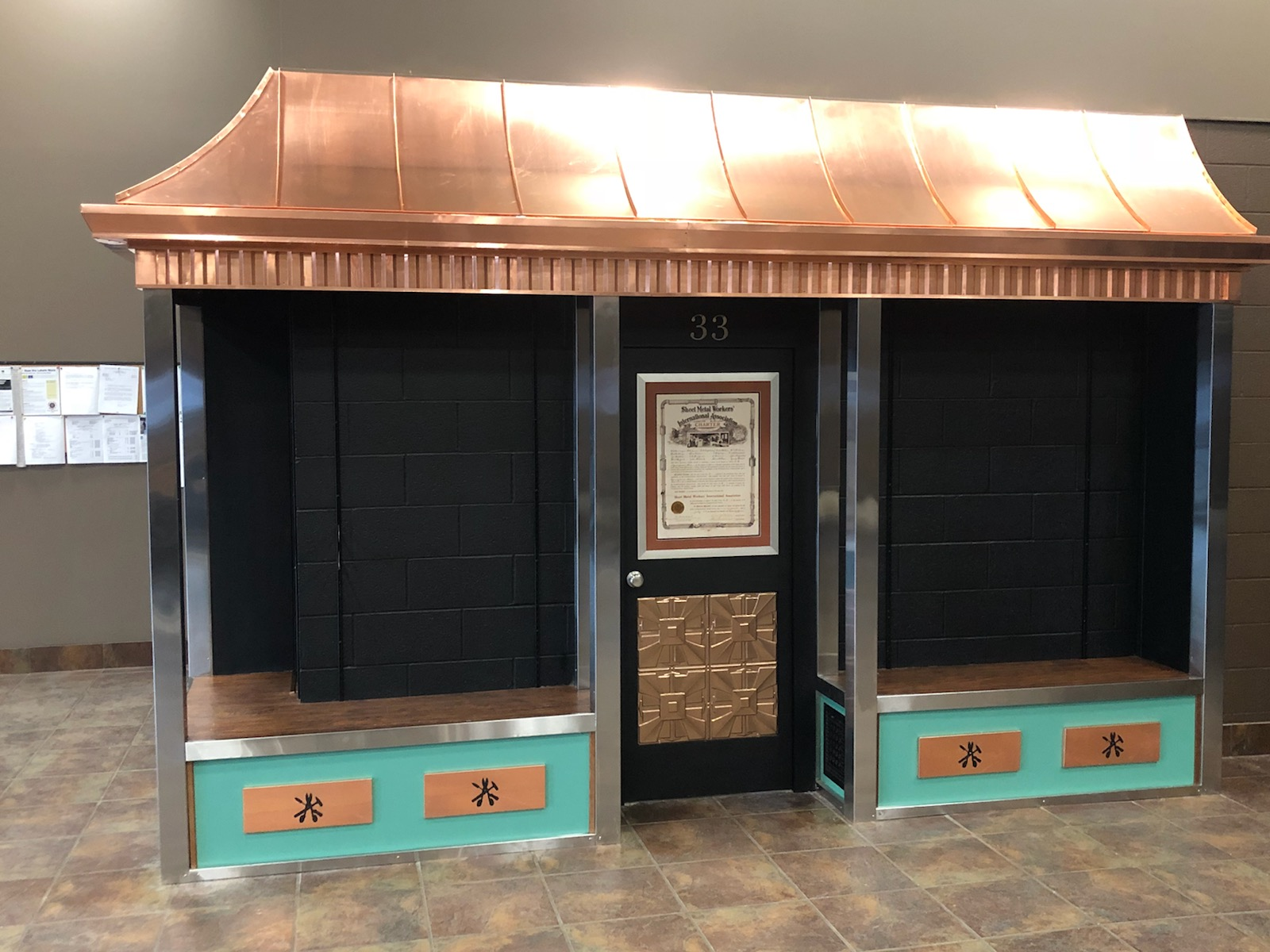 Showcase at the Youngstown District Union Hall, Nearing Completion.