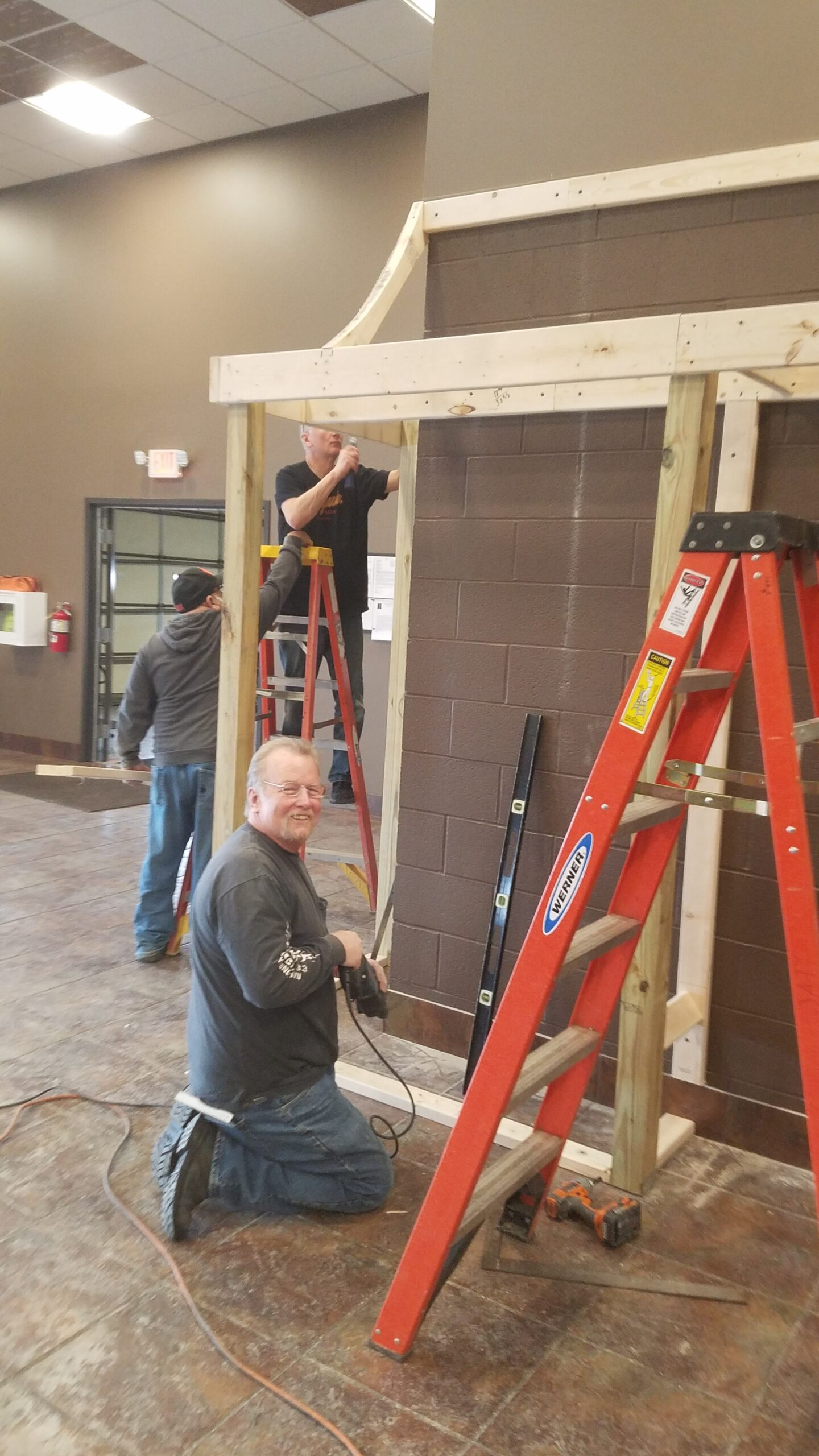 Ken Bailey, Building the Showcase at the Youngstown District Union Hall.